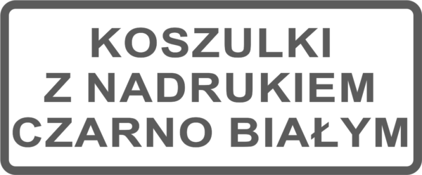 Koszulki z nadrukiem czarno białym