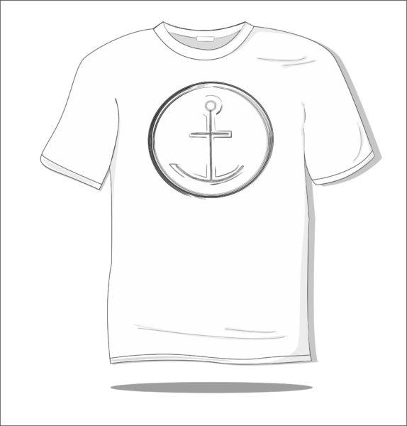 Koszulka z nadrukiem Kotwica