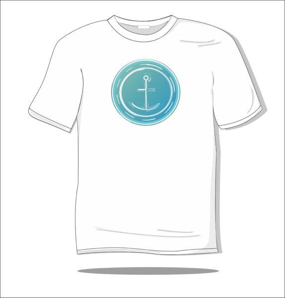 Koszulka z nadrukiem kolorowym Kotwica
