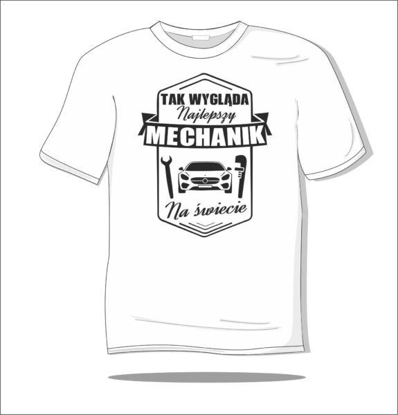 Koszulka z nadrukiem Mechanik samochodowy