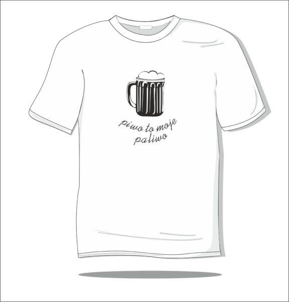 Koszulka z nadrukiem Piwo to moje paliwo