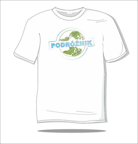 Koszulka z nadrukiem kolorowym Podróżnik