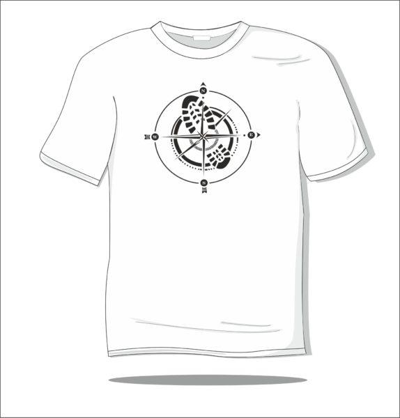 Koszulka z nadrukiem Róża wiatrów