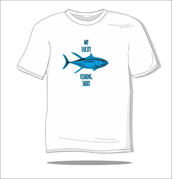Koszulka z nadrukiem kolorowym Ryba na szczęście