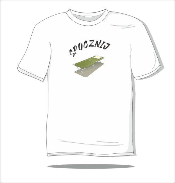 Koszulka z nadrukiem kolorowym Spocznij