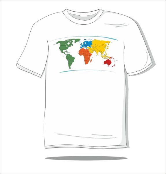 Koszulka z nadrukiem kolorowym Travelling