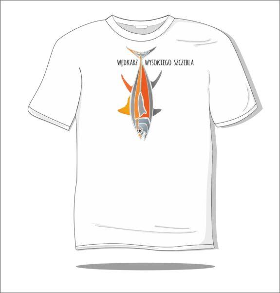 Koszulka z nadrukiem kolorowym Wędkarz wysokiego szczebla