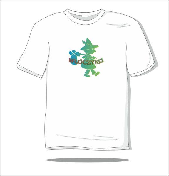 Koszulka z nadrukiem kolorowym Włóczykij 3D