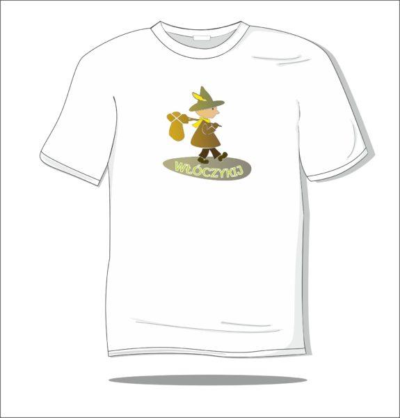 Koszulka z nadrukiem kolorowym Włóczykij
