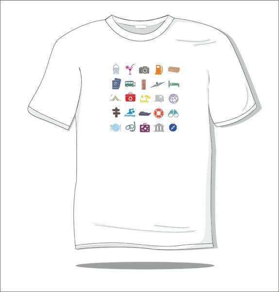 Koszulka z nadrukiem kolorowym Wskazówki podróży