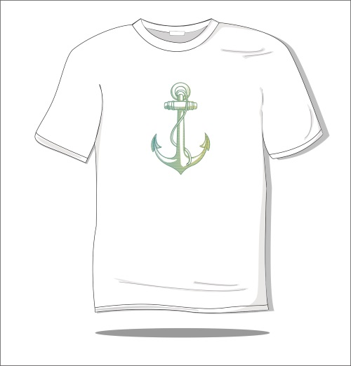 Koszulka z nadrukiem kolorowym Zakotwiczam