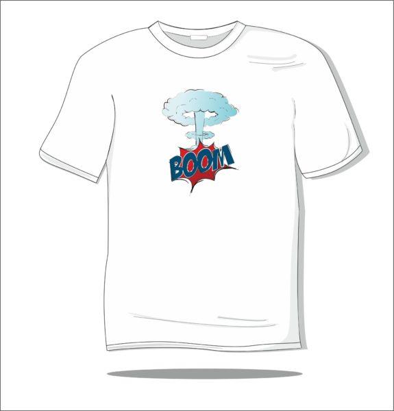Koszulka z nadrukiem kolorowym Boom