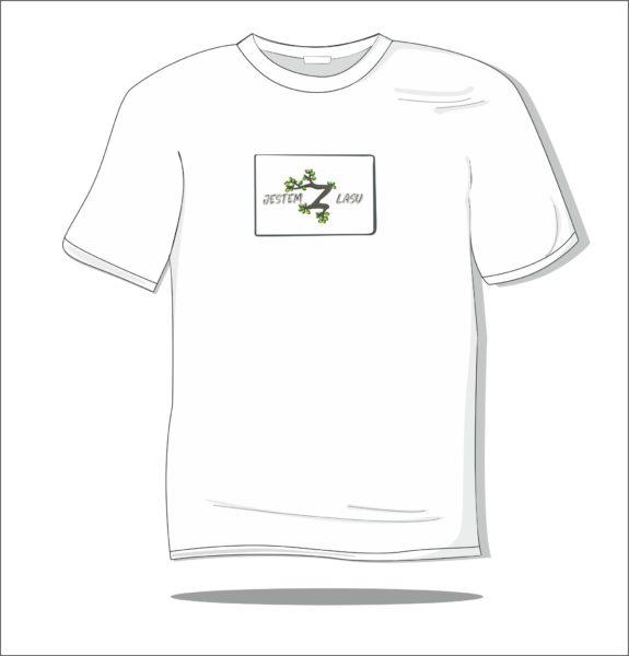 Koszulka z nadrukiem kolorowym Jestem z lasu