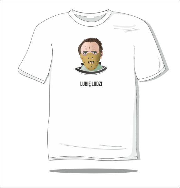 Koszulka z nadrukiem kolorowym Lubie ludzi