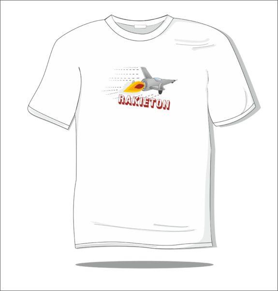 Koszulka z nadrukiem kolorowym Rakieton
