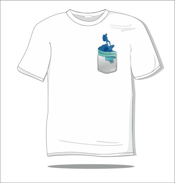 Koszulka z nadrukiem kolorowym Secret pocket