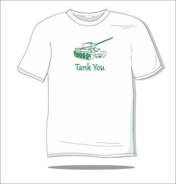 Koszulka z nadrukiem kolorowym Tank You