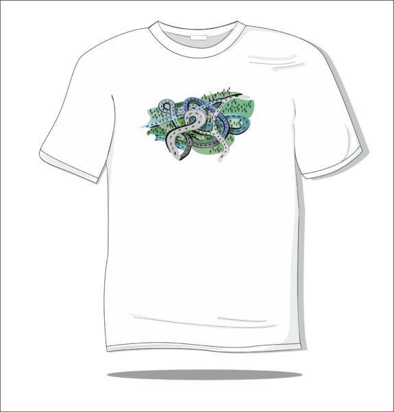 Koszulka z nadrukiem kolorowym W drogę